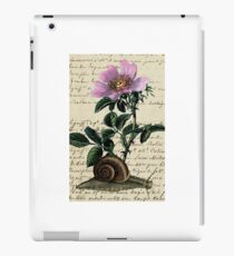Vintage Flower and Snail iPad Case/Skin