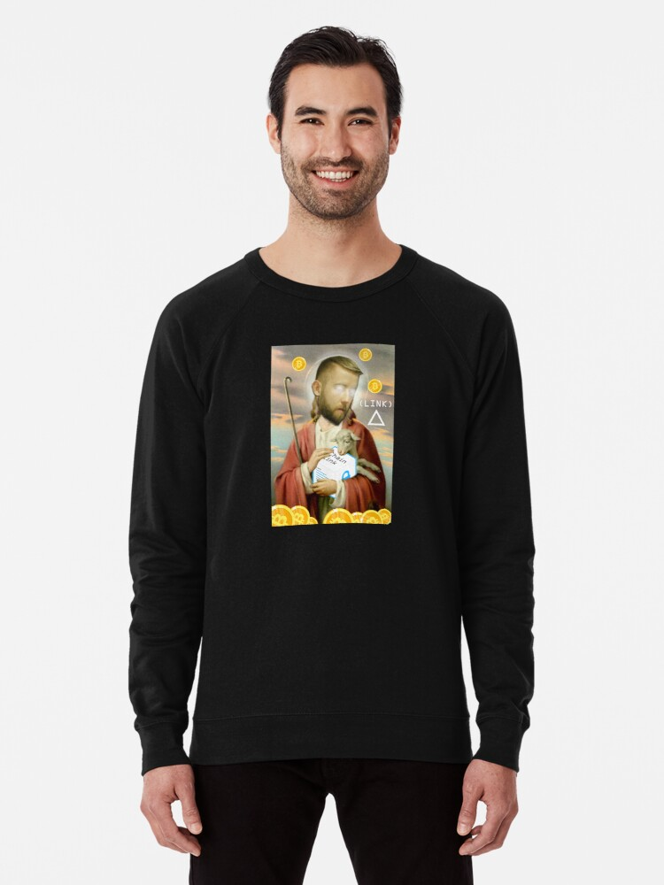 'LINK Jesus Sergey 4chan /biz chainlink cryptocurrency meme shirt'  Lightweight Sweatshirt by jsarnold513