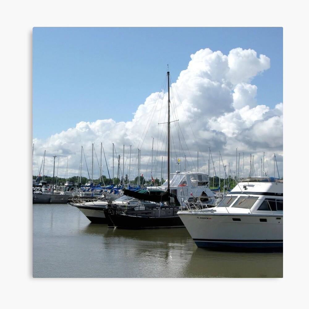 Yachts in Gimli Harbor Leinwanddruck