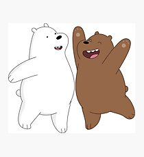 we bare bears shirts and more Photographic Print