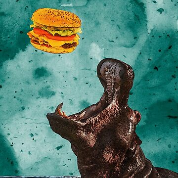 Hippo's Hamburger Dinner by haylith