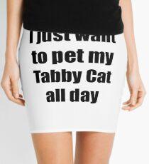 Tabby Cat Lover Mom Dad Funny Gift Mini Skirt
