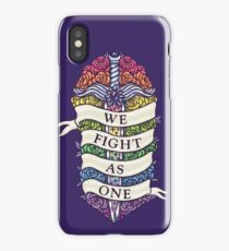 WE FIGHT AS ONE iPhone Case