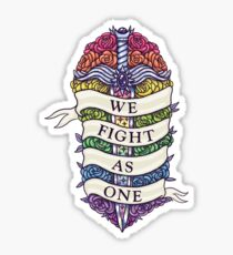 WE FIGHT AS ONE Sticker
