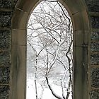 Snow Through a Stone Window by Cora Wandel