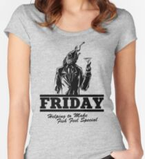 Friday Means Fish Special! Women's Fitted Scoop T-Shirt