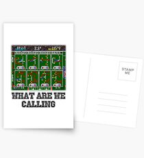 Tecmo Super Bowl Playcalling Postcards