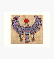Ra: Falcon Pectoral [Papyrus] Art Print