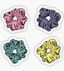 Hair Scrunchie Pastel 4 Pack Sticker