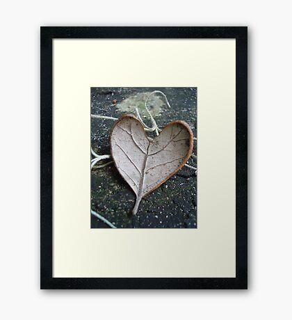 "The ""I Love You"" Leaf Framed Print"