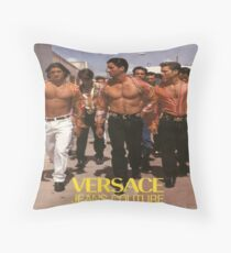 Vintage Male Model Advertisment Throw Pillow