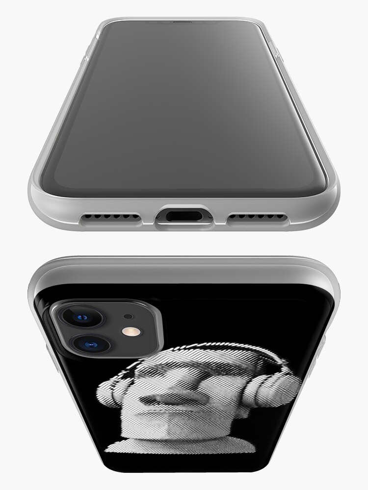 Alternate view of Moai wearing headphones iPhone Case & Cover