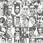 Blues Musicians Collection Print by Mariana Santos