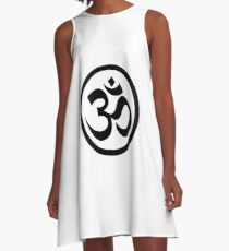 56f9034b80 Om Logo Dresses | Redbubble