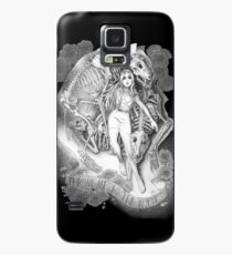 Throw Me To The Wolves (black pen and ink) Case/Skin for Samsung Galaxy