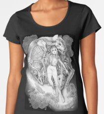 Throw Me To The Wolves (black pen and ink) Women's Premium T-Shirt