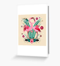 LOVE & FLAMINGO  Greeting Card