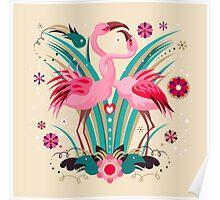 LOVE & FLAMINGO  Poster