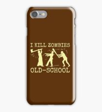 Funny Retro Old School Zombie Killer Hunter iPhone Case/Skin