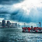 Star Ferry Crossing Hong Kong Harbour by Mark Higgins