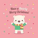 Cute Christmas Polar Bear by rustydoodle
