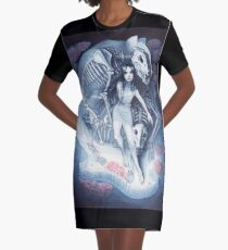 Throw Me To The Wolves (watercolour edition) Graphic T-Shirt Dress