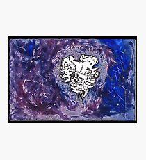 laVs2 - a dark lavendar purple abstract Photographic Print
