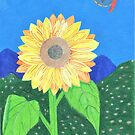 The Sunflower And Dream Catcher by Julia Hanna by Bearie23