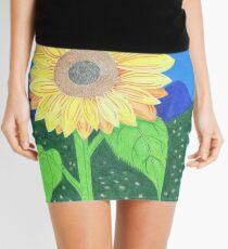 The Sunflower And Dream Catcher by Julia Hanna Mini Skirt