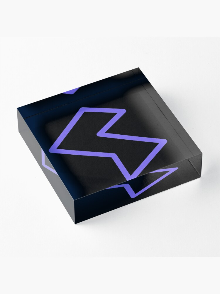 Alternate view of Streamia Lightning Acrylic Block