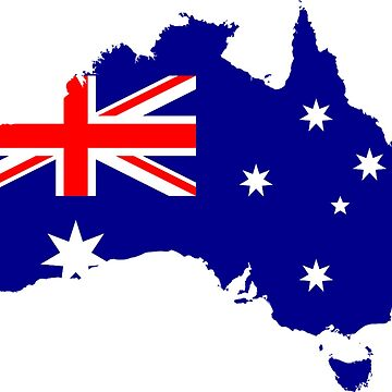 Map Flag of Australia by Scirocko