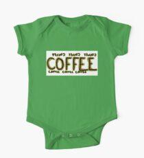Coffee coffee coffee One Piece - Short Sleeve