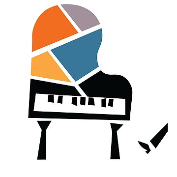 Abstract Jazz Piano by designkitsch