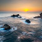 Sunrise and rocks at Cabo de Palos by Ralph Goldsmith