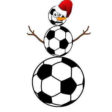 SOCCER BALL SNOWMAN by CalliopeSt