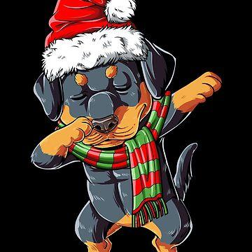 Tupfendes Rottweiler Sankt-T-Shirt Weihnachten scherzt Jungen-Geschenke von LiqueGifts