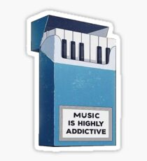 Music Is Addictive  Sticker