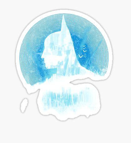 City Knight - blue version Sticker