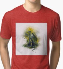 Steampunk Dragon Tri-blend T-Shirt