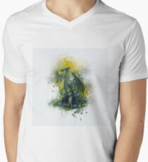 Steampunk Dragon Men's V-Neck T-Shirt