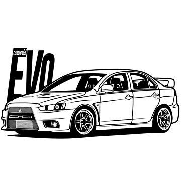 Mitsubishi Lancer Evolution EVO X Best Shirt by CarWorld