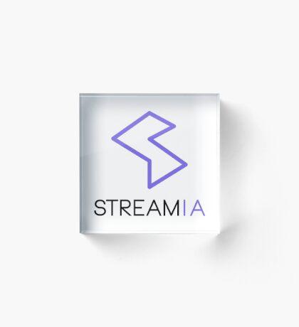 Streamia Logo Alt. Acrylic Block