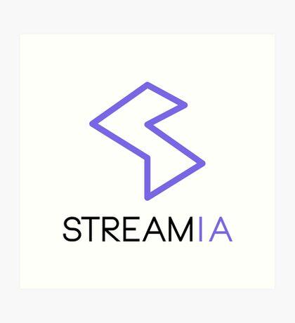 Streamia Logo Alt. Art Print