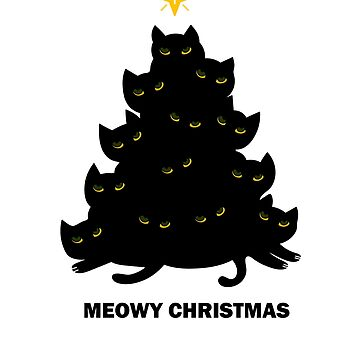 Cute Meowy Christmas Funny Cat Lover xmas  by dukito