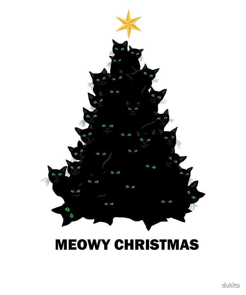 Meowy Christmas.Cute Merry Meowy Christmas Funny Cat Lover Xmas By Logia