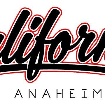 Anaheim California Retro Typography by EddieBalevo
