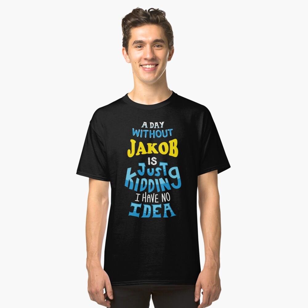 Best friends dearest name design Jakob Classic T-Shirt Front