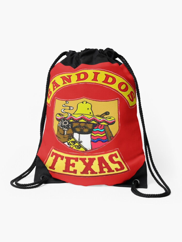 Bandidos Texas Front jacket patch with top and bottom Texas rockers |  Drawstring Bag