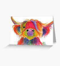 Scottish Hairy Highland Kuh PRiNT 'PENELOPE PLUM' von Shirley MacArthur Grußkarte