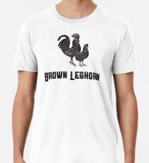 Brown Leghorn | Animal Art Men's Premium T-Shirt